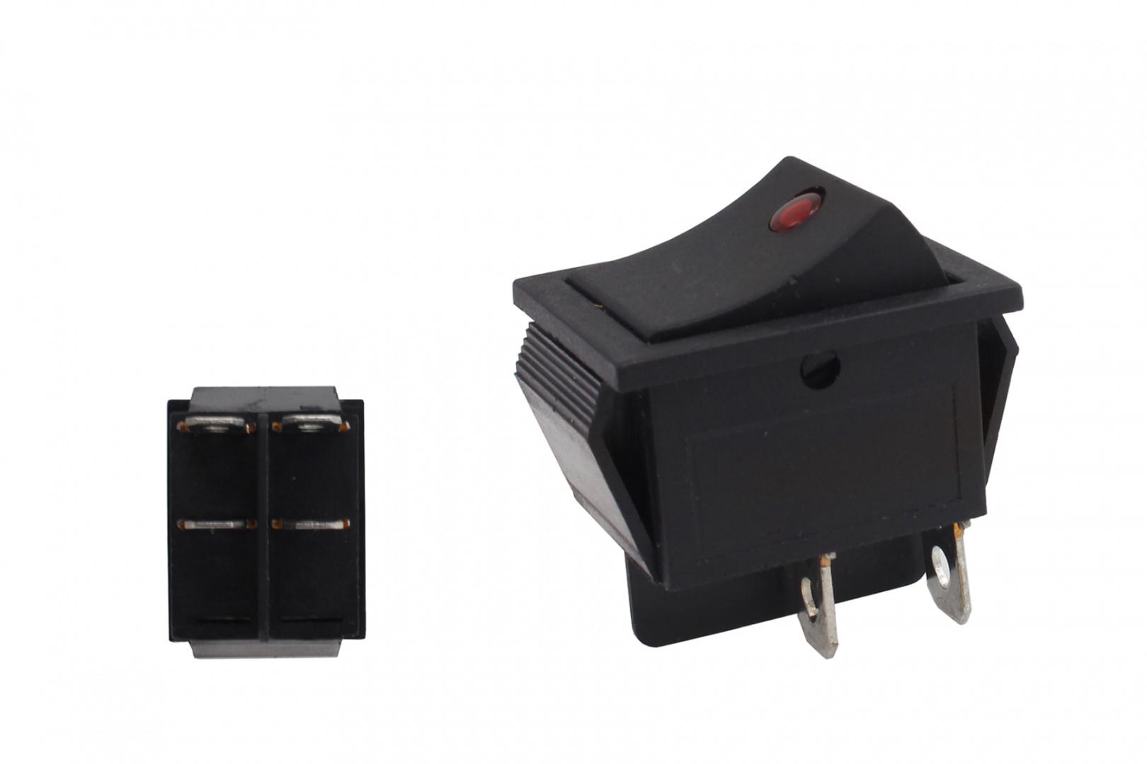 Włącznik rocker led 4 PIN Red - GRUBYGARAGE - Sklep Tuningowy